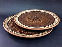 Тарелка из красной глины D25