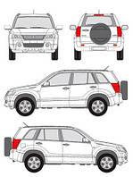 Багажник на интегрированные рейлинги Suzuki Grand Vitara 2005->2015 Cruz