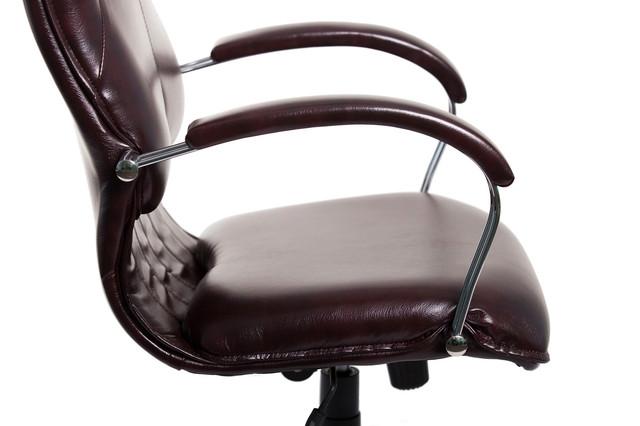 Кресло Никосия Хром бордовое (фото 3)