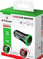 Автомобильный адаптер E-Power 1 USB 1A