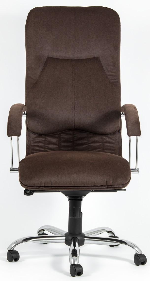 Кресло Никосия Хром ткань коричневая (фото 4)