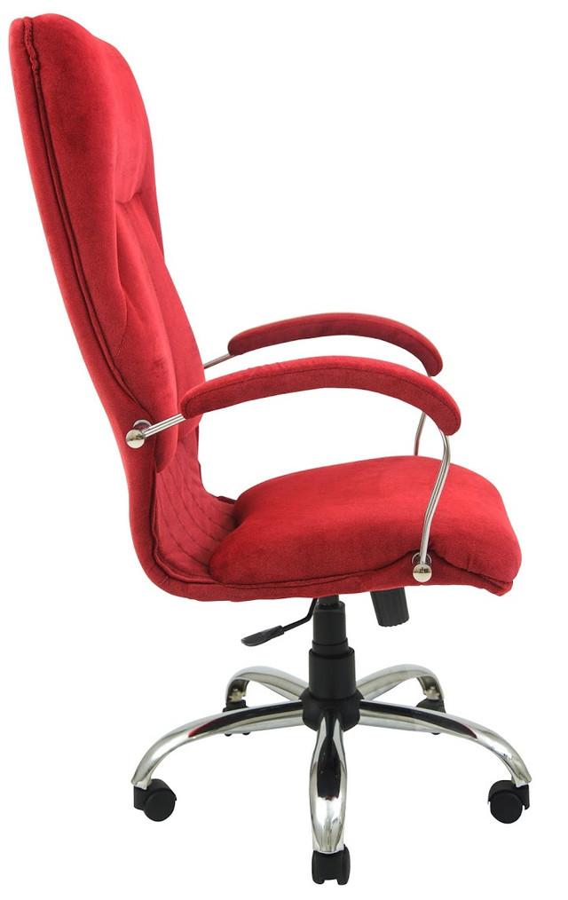 Кресло Никосия Хром ткань красная (фото 3)