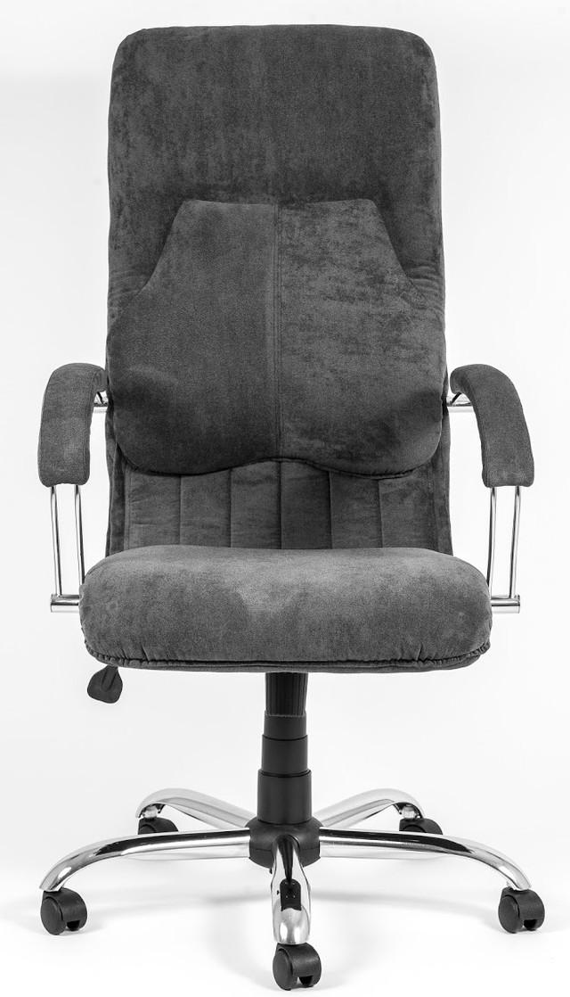 Кресло Никосия Хром ткань серая (фото 2)