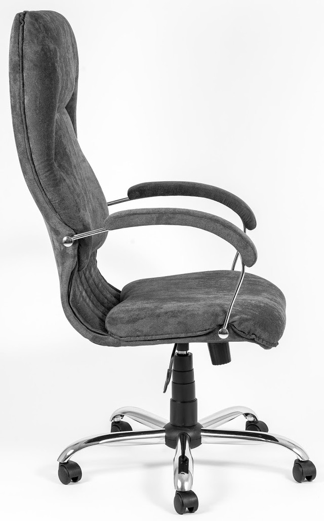 Кресло Никосия Хром ткань серая (фото 4)