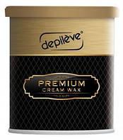 Воск пленочный премиум с диоксидом титана 800 г - DEPILEVE Premium Cream Wax