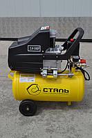 Компресор КСТ-20 8 атм, 1,5 кВт, вхід 190 л / хв, СТАЛЬ 20л, фото 1