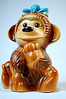 Копилка обезьяна с бантом