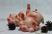 Копилка Свинка с ножкой