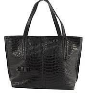 Оригинальная симпатичная качественная сумка с эко кожи очень высокого качества B.Elite art.02-51 крокодил черн
