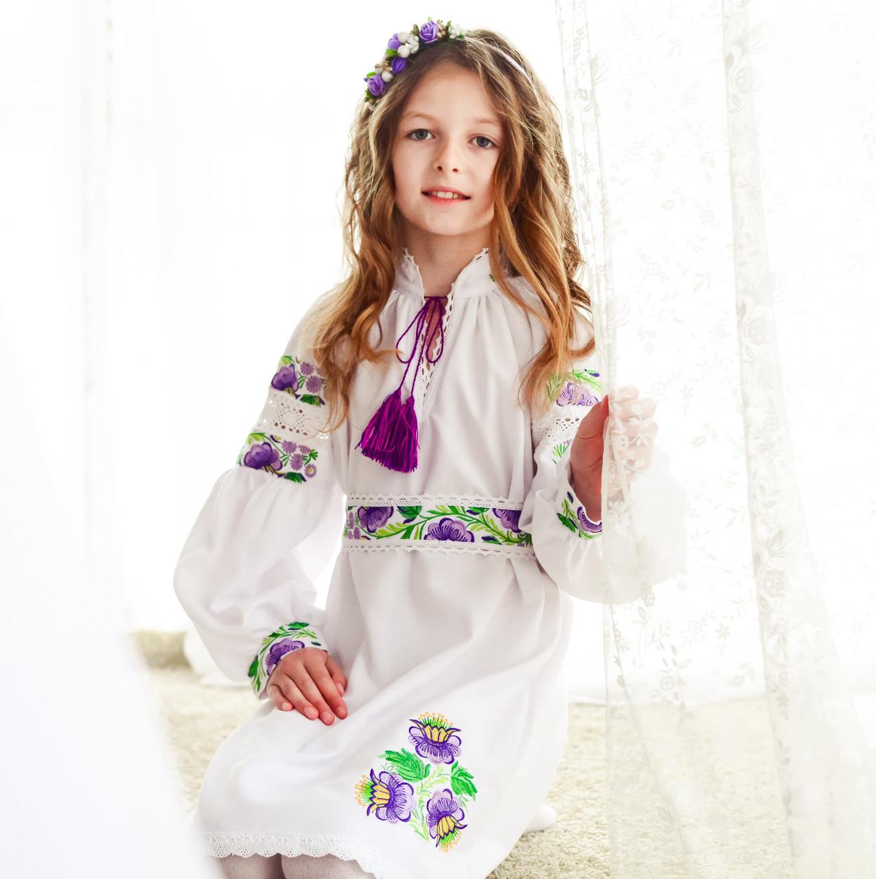 Оригінальне вишите лляне плаття з поясочком на дівчинку от Интернет ... 7eda3febe5b75
