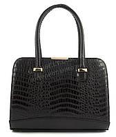 Оригинальная каркасная сумка с эко кожи очень высокого качества B.Elite art. 06-01 крокодил черная