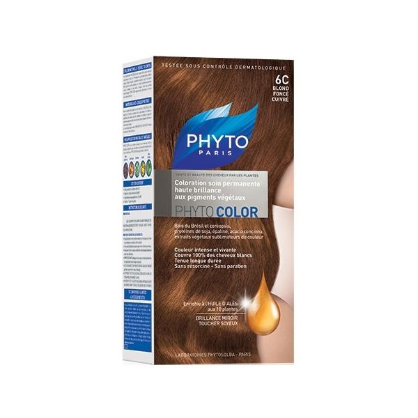 Фито крем-краска Phytocolor Colorations тон 6С (темно-русый медный)