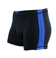 Плавки мужские купальные Radical Shoal (original), трусы-боксеры для бассейна, пляжа черный с синим, L