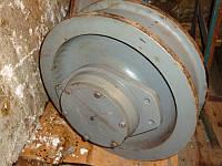 Колесо крановое К2Р 500×100 в сборе