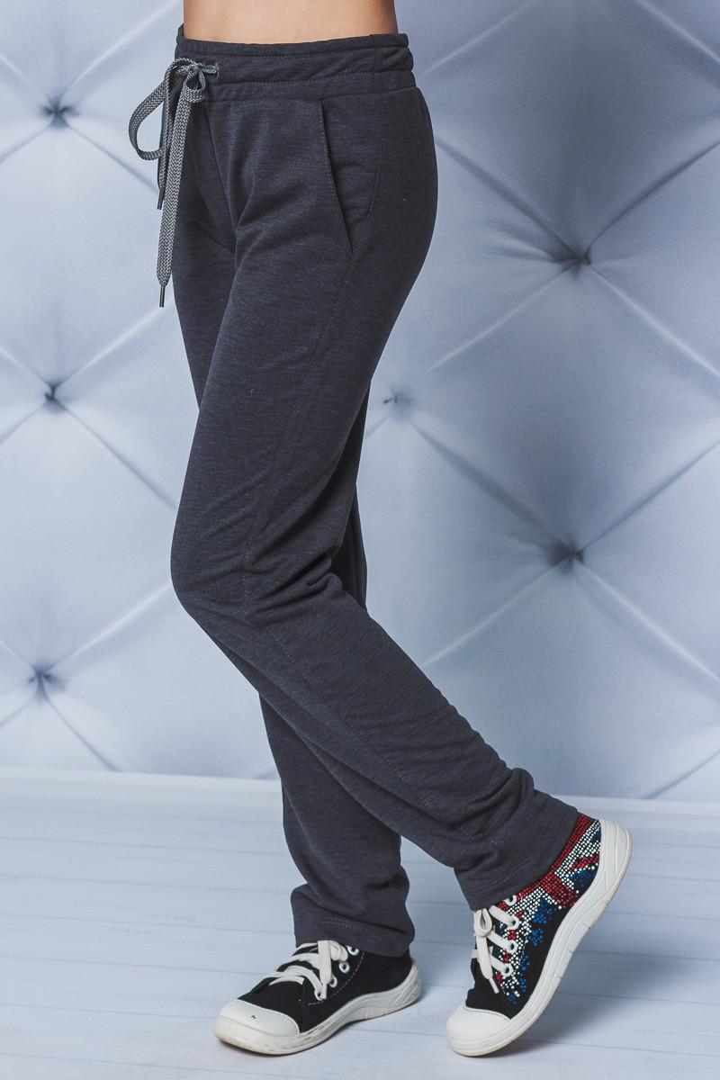 Спортивные детские штаны прямые темно-серые