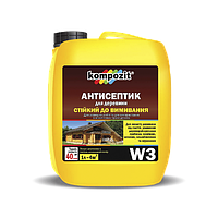 Антисептик для древесины трудновымываемый Kompozit W3, 1 л.
