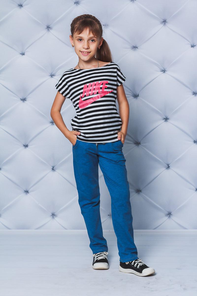Спортивные детские штаны прямые джинс