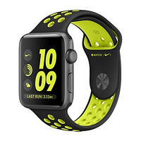 Умные часы Apple Watch Nike+ 42mm Space Gray Aluminum Case with Black/Volt Nike Sport Band (MP0A2)