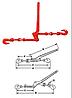 Стяжное устройство рычажного типа. Стяжка цепная.
