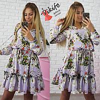 Красочное платье свободного кроя Вф5500
