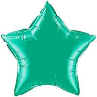"""Фольгированный шар без рисунка Flexmetal (металлик) Звезда Изумрудная 18"""""""