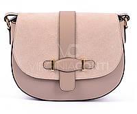 Кожаная сумка Virginia Conti (пудра)