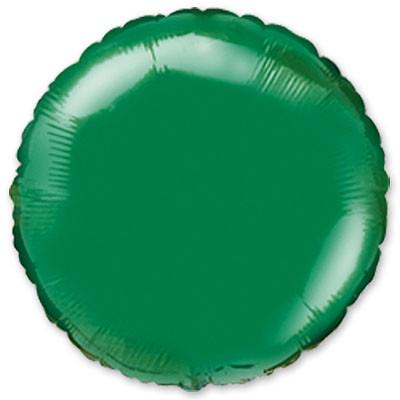 """Фольгированный шар без рисунка Flexmetal (металлик) Круг Зеленая 18"""""""