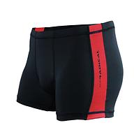Плавки мужские купальные Radical Shoal (original), трусы-боксеры для бассейна, пляжа черный с красным, M