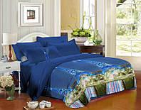 Комплект постельного белья семейный, полиэстер. Постільна білизна. (арт.7579)