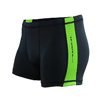 Плавки мужские купальные Radical Shoal (original), трусы-боксеры для бассейна, пляжа черный с зеленым, XL