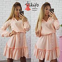 Однотонное очаровательное платье Вф6699