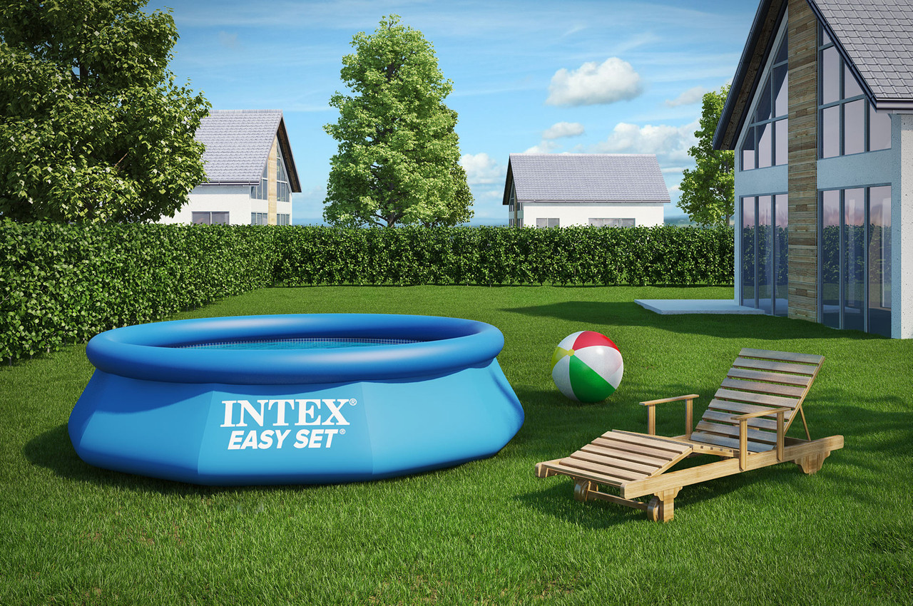 Качественный семейный бассейн Intex 244-76 см. 28120 / 56970