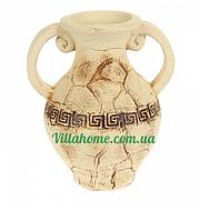 Цветочник ваза из глины для кафе. Садовый декор