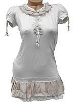 Короткие летние платья-туники (молочный 42-44)
