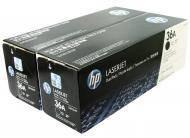 Картридж HP 36A  Dual Pack (CB436AF) (LaserJet P1505, LaserJet M1120/1522) Black
