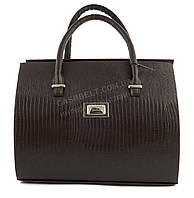 Оригинальная каркасная сумка с эко кожи очень высокого качества B.Elite art. 03-63 коричневая под змею