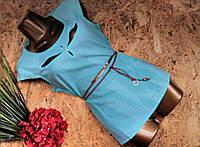 Блузка +пояс 2856 мята 42-44р Супер цена