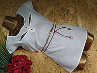 Блузка +пояс 2856 белый 46-48р Супер цена