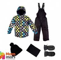 Комплект зимний, куртка и комбинезон с набором аксессуаров Gusti 4596 GWB, цвет голубой