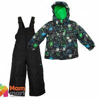 Комплект зимний , куртка и комбинезон Gusti 4780 XWB, цвет черный/зеленый