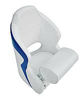 Кресло Flip up с крепежной пластиной серо-синее