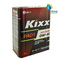 Моторное масло KIXX PAO1 0W-40 4л (API SN/CF)