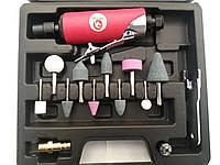 Профессиональная! Пневматическая Мини Шлифовальная машинка с набором камней INTERTOOL