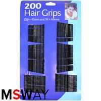 YRE Невидимка для волос HGS-02 (150шт=40мм, 50шт=55мм) 200шт Hair Grips