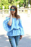 """Блуза летняя женская хлопковая с воланами """"Николь"""""""