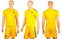 Форма футбольная детская УКРАИНА Евро 2016 CO-3900-UKR-16Y (полиэстер, р-р XS-XL, желтый)