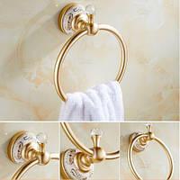 Вешалка кольцо в ванную или на кухню золото 0339, фото 1
