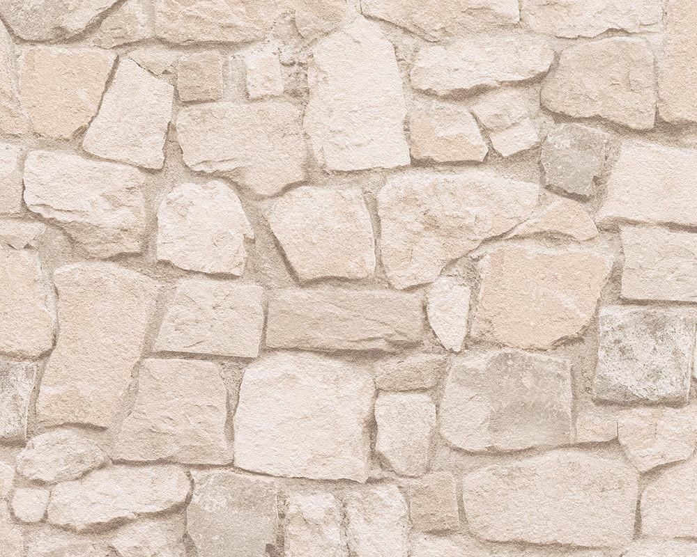 Плотные и прочные фактурные обои бумажные, с имитацией натурального камня 692429.