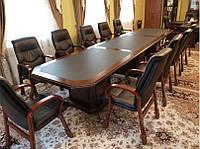 Конференц-стол YFT 166 с центральной вставкой (4950*1200*760Н)