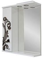 Зеркало для ванной комнаты Аэрография 60-01 левое  Ковка